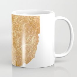Gold Ohio Coffee Mug