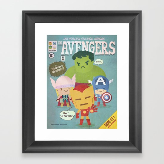 avengers fan art Framed Art Print