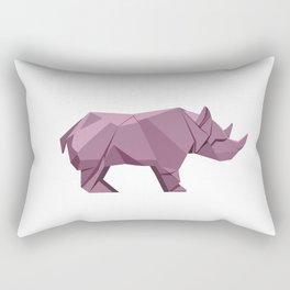 Origami Rhino Rectangular Pillow