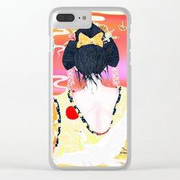 Oriental Beauty Clear iPhone Case