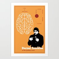 eternal sunshine of the spotless mind Art Prints featuring Eternal Sunshine of the Spotless Mind by JAGraphic