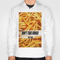 french fries Hoodies featuring French Fries by Ispas Sorin
