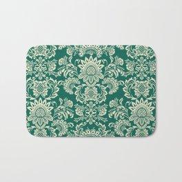 Damask vintage in green Bath Mat