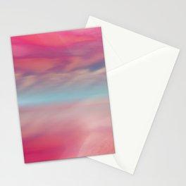 """""""Rose quartz sky on beach shore"""" Stationery Cards"""