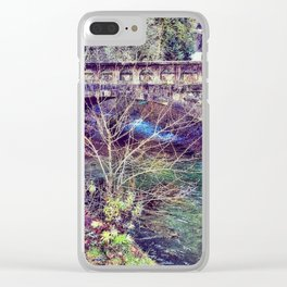 Water under the bridge Clear iPhone Case
