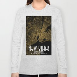New York City Poster Long Sleeve T-shirt