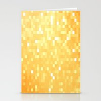 pixel Stationery Cards featuring Golden pixeLs by 2sweet4words Designs