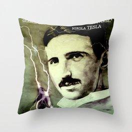 Nikola TESLA - quote Throw Pillow