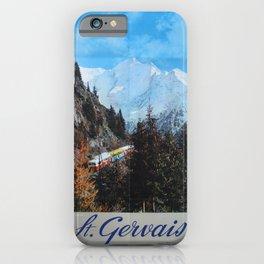 affisso St Gervais Haute Savoie iPhone Case