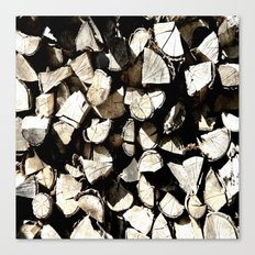 Casual Wood Canvas Print