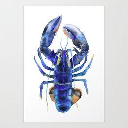 Blue Lobster №1 Art Print