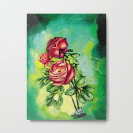 Convergency: Rose from a Lilypad Metal Print