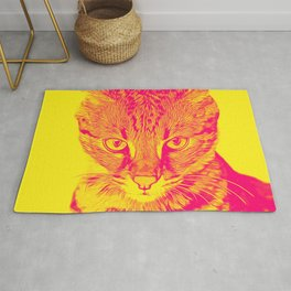 savannah cat portrait vayp Rug