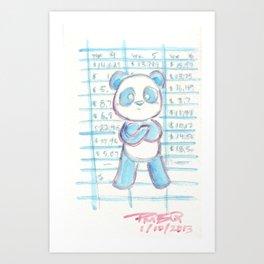 Forecast Panda Art Print