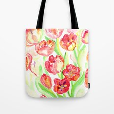 Mothers Day Tulips Tote Bag