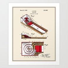 Skee Ball Patent - Colour Art Print