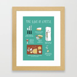 The Love Of Cheese Framed Art Print