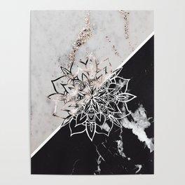 Yin Yang Mandala on Marble #1 #decor #art #society6 Poster
