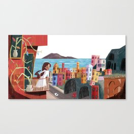 One Girl in Italy Canvas Print