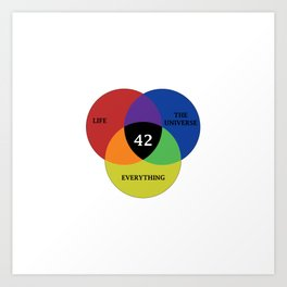42 is the answer Art Print