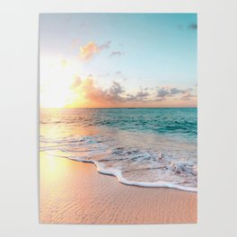 Tropical Sunset Beach, Sunset Photo Poster