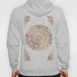 Mandala Rose-Gold Shine Hoody