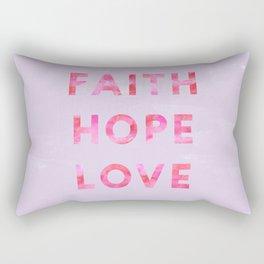 Faith, Hope, & Love Digital Design Rectangular Pillow