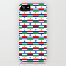 Mix of flag: Israel and Iran iPhone Case