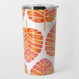 Elephant Ear Alocasia – Peach Palette Travel Mug