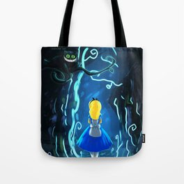 Alice in Wonderland | Cheshire Cat | I'm not crazy, my reality is just different than yours | Quote Tote Bag