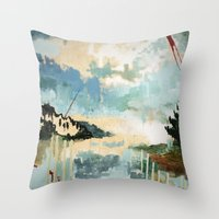 building Throw Pillows featuring Building by dorilovesnico
