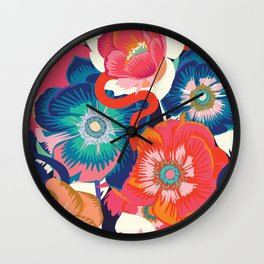 Anemones and snake  Wall Clock