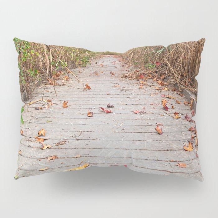 Autumn Marsh Boardwalk Pillow Sham