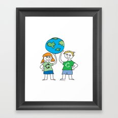 Recycle Message Kids Framed Art Print