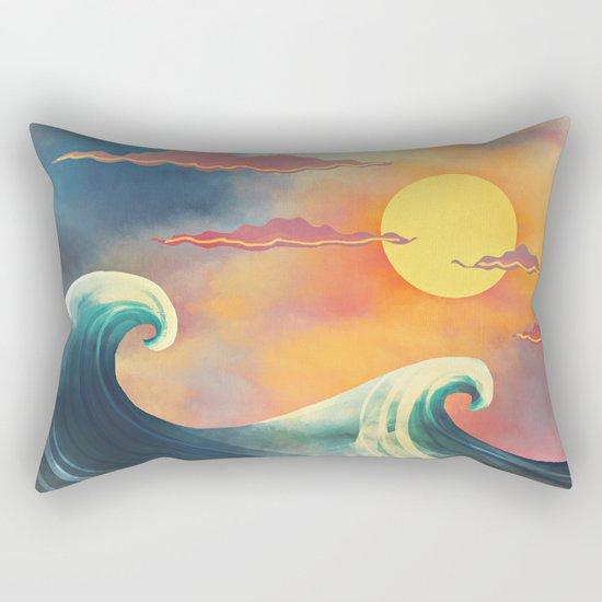 blue & red Rectangular Pillow