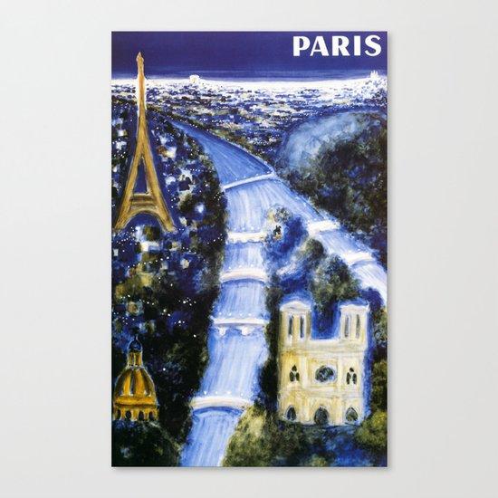 Paris by Villemot Bernard art print poster Canvas Print