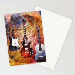 Guitar Love Trio Stationery Cards