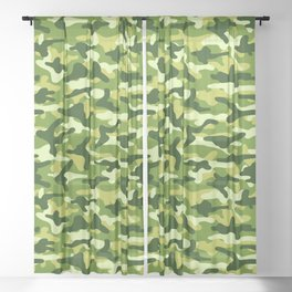 Leaf Camouflage Sheer Curtain