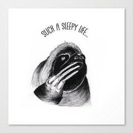 Such a sleepy life Canvas Print