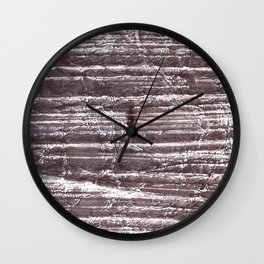 Gray Brown colorful watercolor Wall Clock