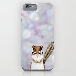 chipmunk woodland animal portrait iPhone Case