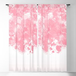 paint splatter on gradient pattern bbpw Blackout Curtain