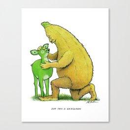 Doe Pea & Sasquash Canvas Print