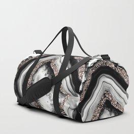 Agate Rose Gold Glitter Glam #4 #gem #decor #art #society6 Duffle Bag