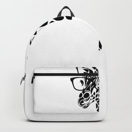 Giraffe wearing Glasses Backpack