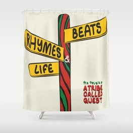 Beats, Rhymes & Life Shower Curtain