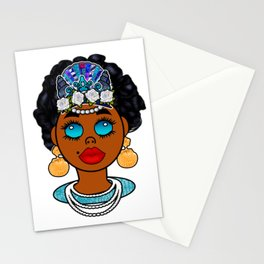 Goddess in Blue Stationery Cards