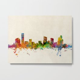 Grand Rapids Michigan Skyline Cityscape Metal Print
