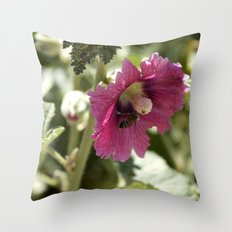 Buzzing here and there Throw Pillow