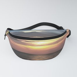 Pefect Living Coral Colored Ocean Sunrise Fanny Pack